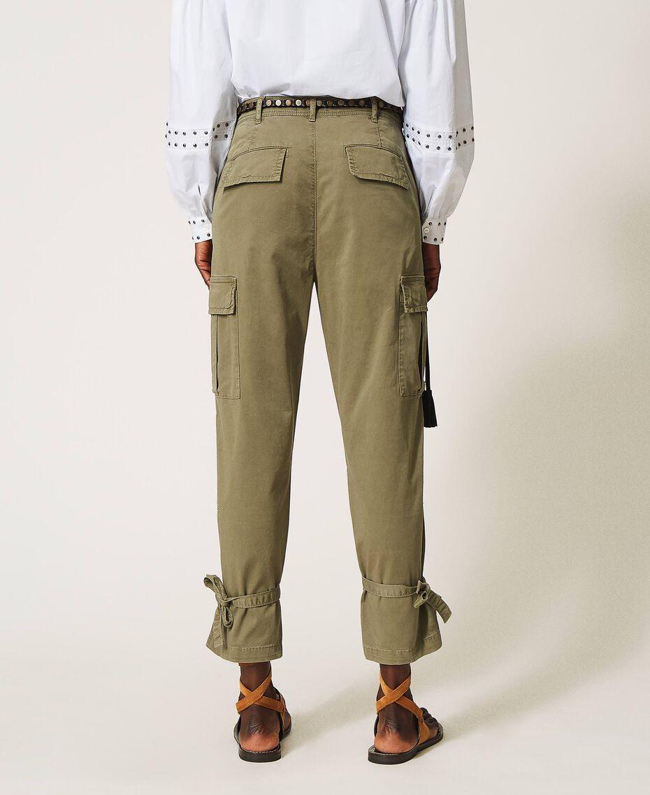 Pantalon cargo avec poches Vert Alpin Femme 211TT2652-03