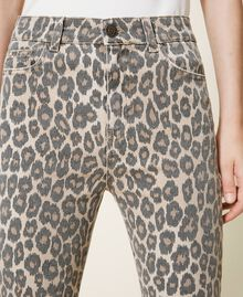 Pantalón con animal print Estampado Animal Print Nuez / Tabaco Mujer 202TT2443-05
