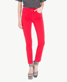 Pantalon skinny Rouge Vermillon Femme JS82Z1-01