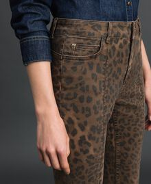 Jeans skinny con stampa animalier Stampa Animalier Donna 192MP2211-03
