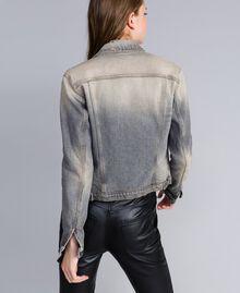 Jacke aus Denim Denim-Grau Frau JA82YC-03