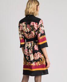 Robe chemisier avec imprimé foulard floral Imprimé Foulard Placé Femme 192TP2601-03