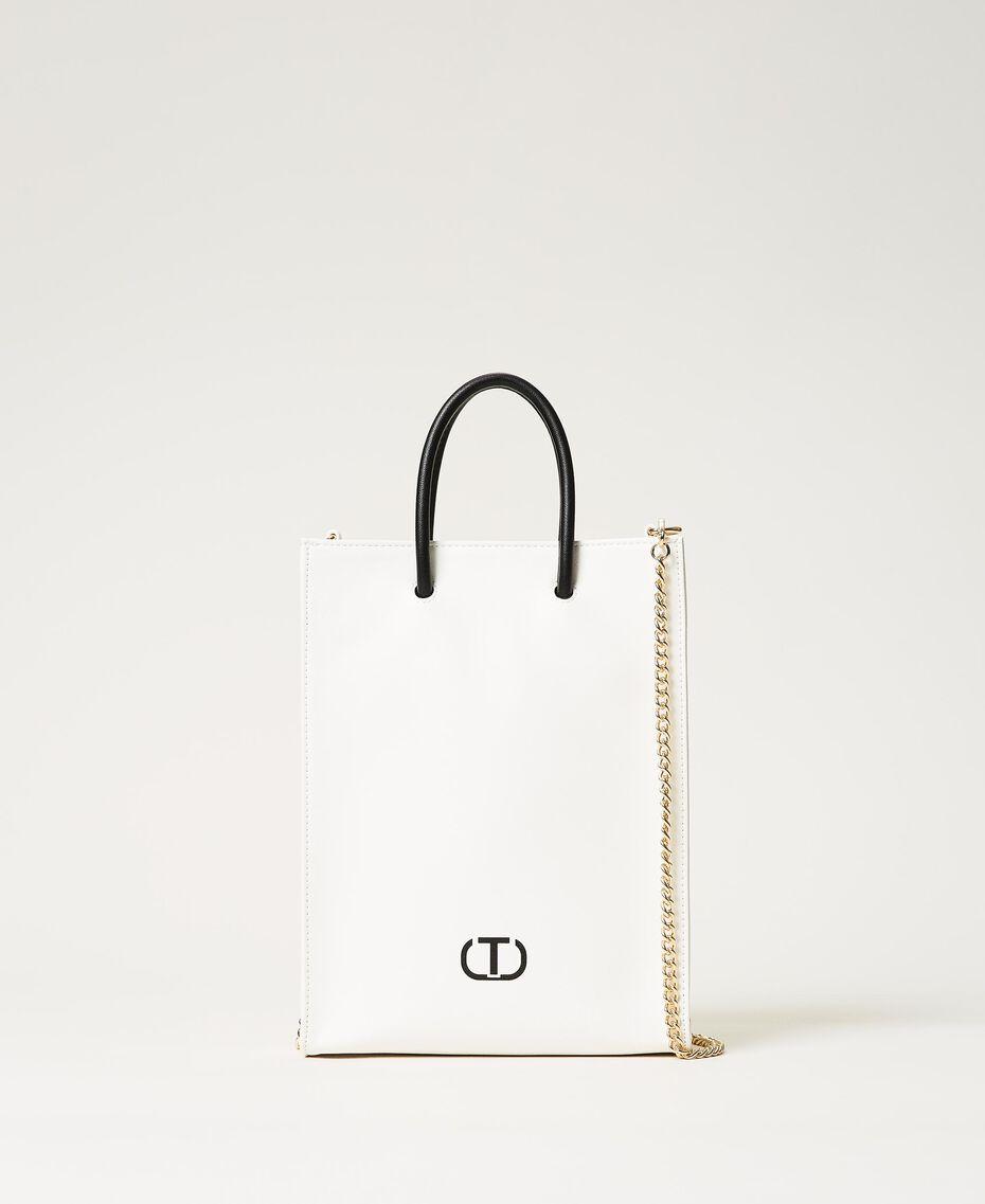 Shopper with printed logo White Woman 211TD8091-03