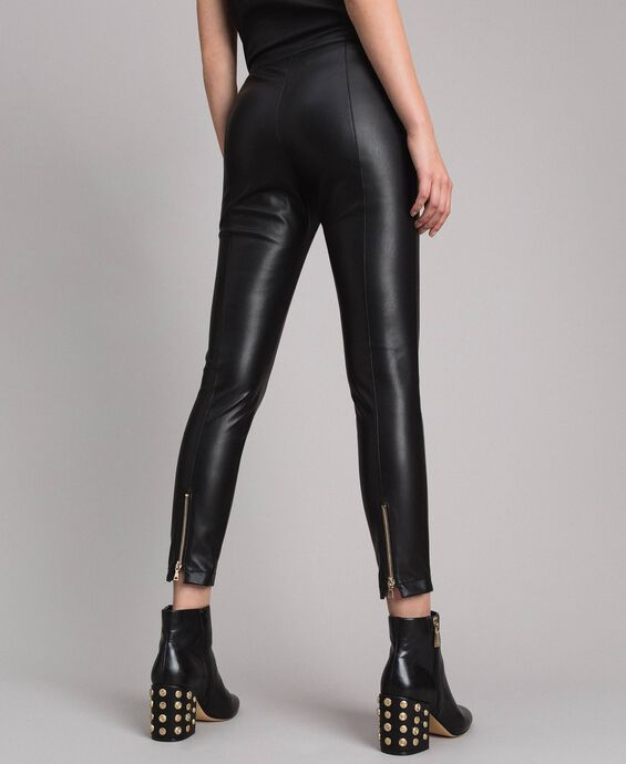 Faux leather skinny trousers