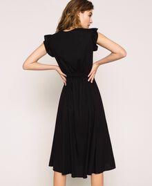 Poplin dress with ruffles Flirty Rose Print Woman 201LB2BDD-03