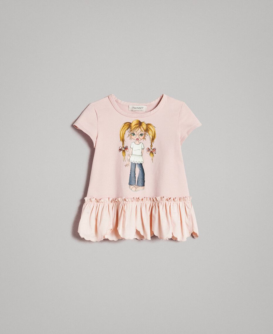 Jersey T-shirt with print Blossom Pink Child 191GB2193-01