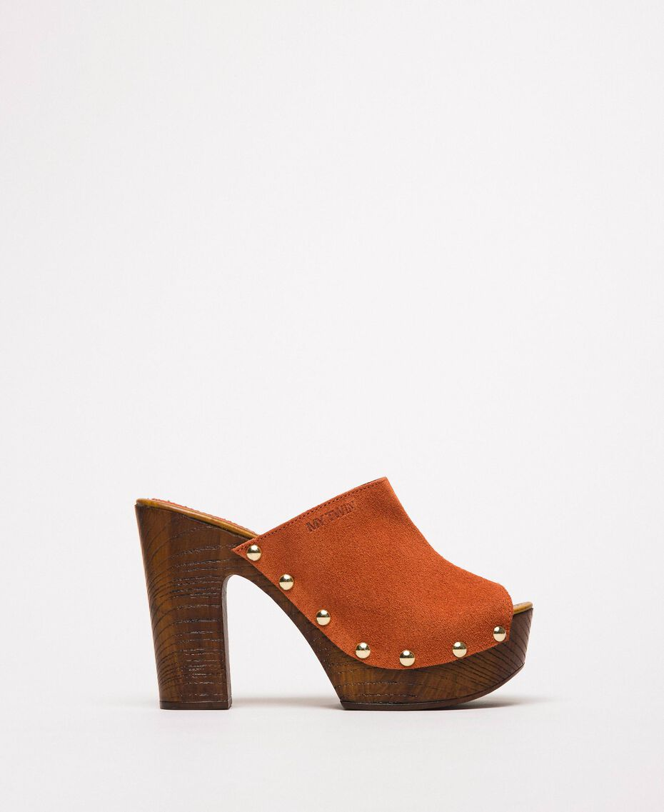 Suede sabots Terracotta Woman 201MCT01G-02