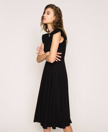 Poplin dress with ruffles Flirty Rose Print Woman 201LB2BDD-05