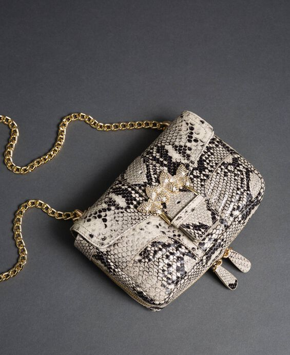 Small Rebel shoulder bag with python print