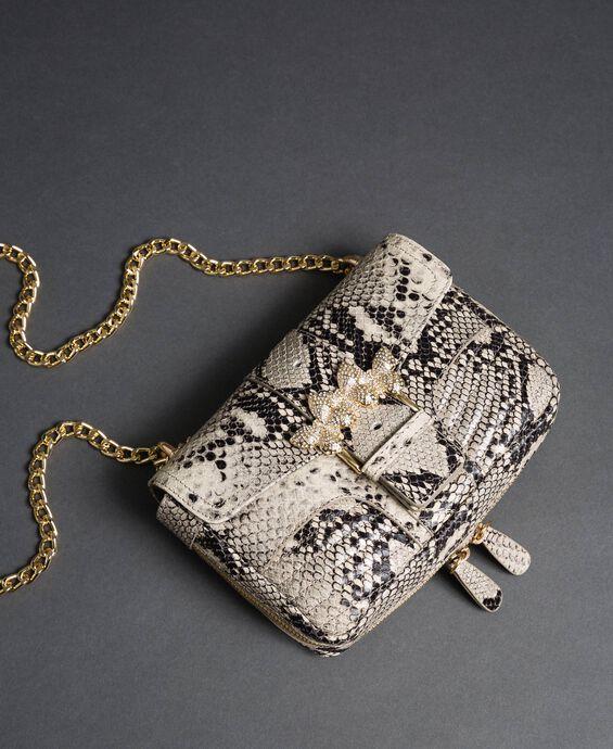 Petit sac à bandoulière Rebel avec imprimé python