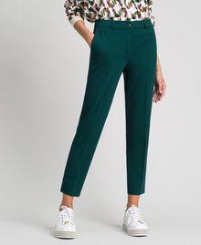 Pantalon cigarette Vert Foncé Femme 192TP2091-02