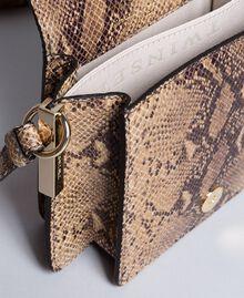 Sac à bandoulière en cuir animalier Imprimé Camel Serpent Femme AA8PG1-04