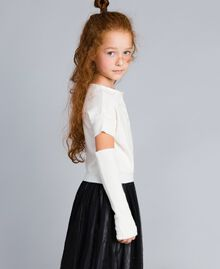 Cashmere blend jumper with embroideries Off White Child GA83CB-02