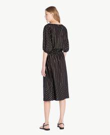 Jacquard dress Black Jacquard / Gold Stripes Woman TS82VC-03