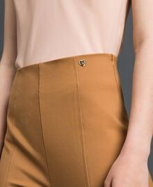 High waist palazzo trousers Irish Cream Hazelnut Woman 192MP2172-04