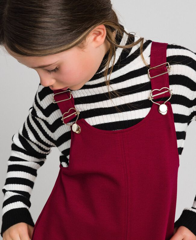 Pinafore dress with pockets Ruby Wine Red Child 192GJ2223-04