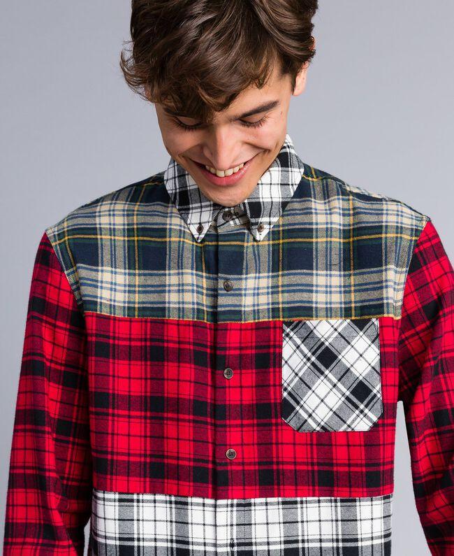 Camicia in flanella tartan Multicolor Plaid Flannel Uomo UA82EA-03