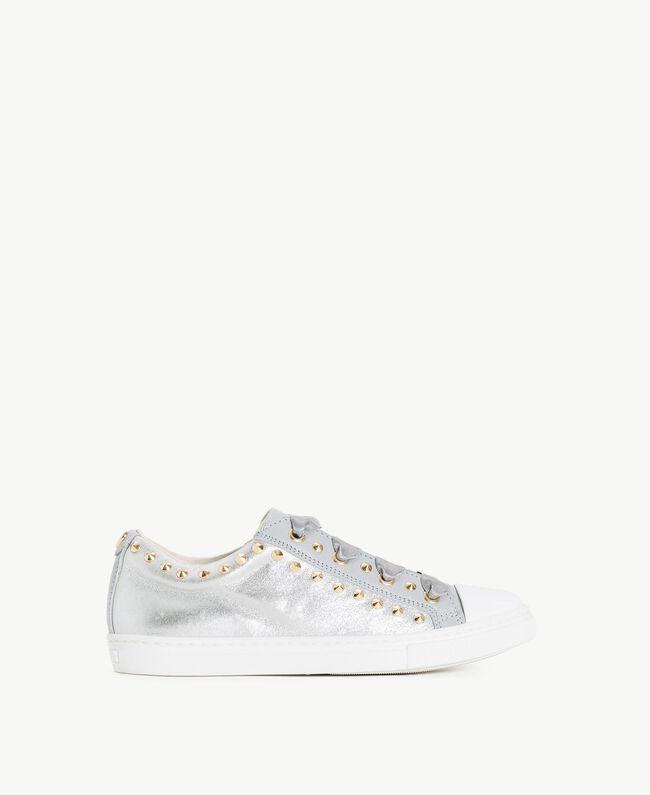 Sneaker mit Nieten Perl Weiß Kind HS88BN-01
