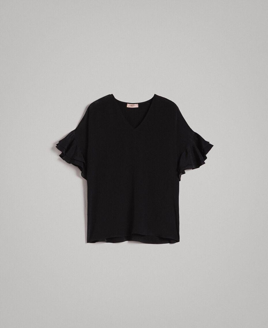 Блуза из смесового шелка Черный женщина 191TT2075-0S