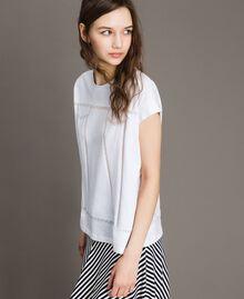 Trompe-l'oeil T-shirt White Woman 191MT2418-02