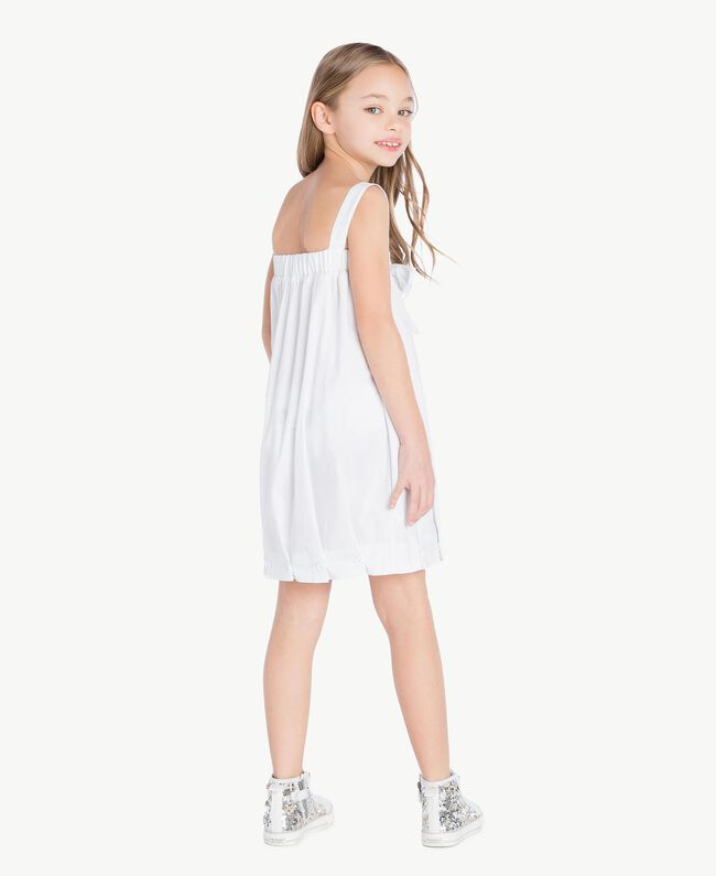 "Robe popeline Blanc ""Papers"" Enfant GS82QN-04"