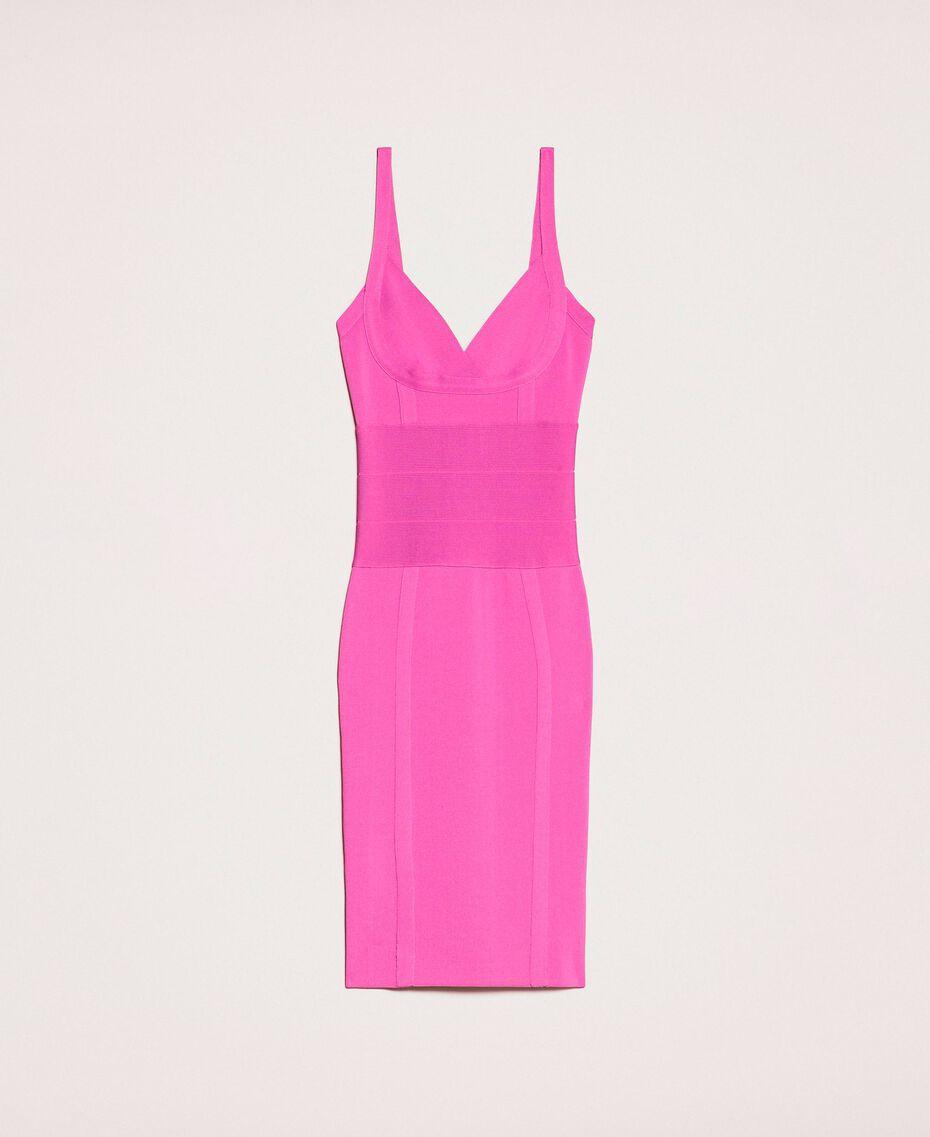 Vestido de tubo de punto Rosa «Jazz» Claro Mujer 201TT3182-0S