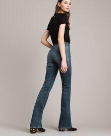 Fadeout bell bottom jeans Denim Blue Woman 191MP2475-03