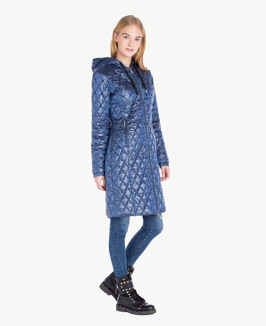 Long embroidered padded jacket Midnight Blue JA72KB-02