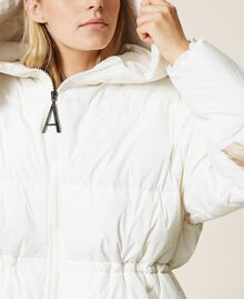 'Alum' puffer jacket with logo print Mother Of Pearl Woman 212AT2040-06