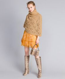 Short Valencienne lace dress Brandy Woman PA82FY-0T