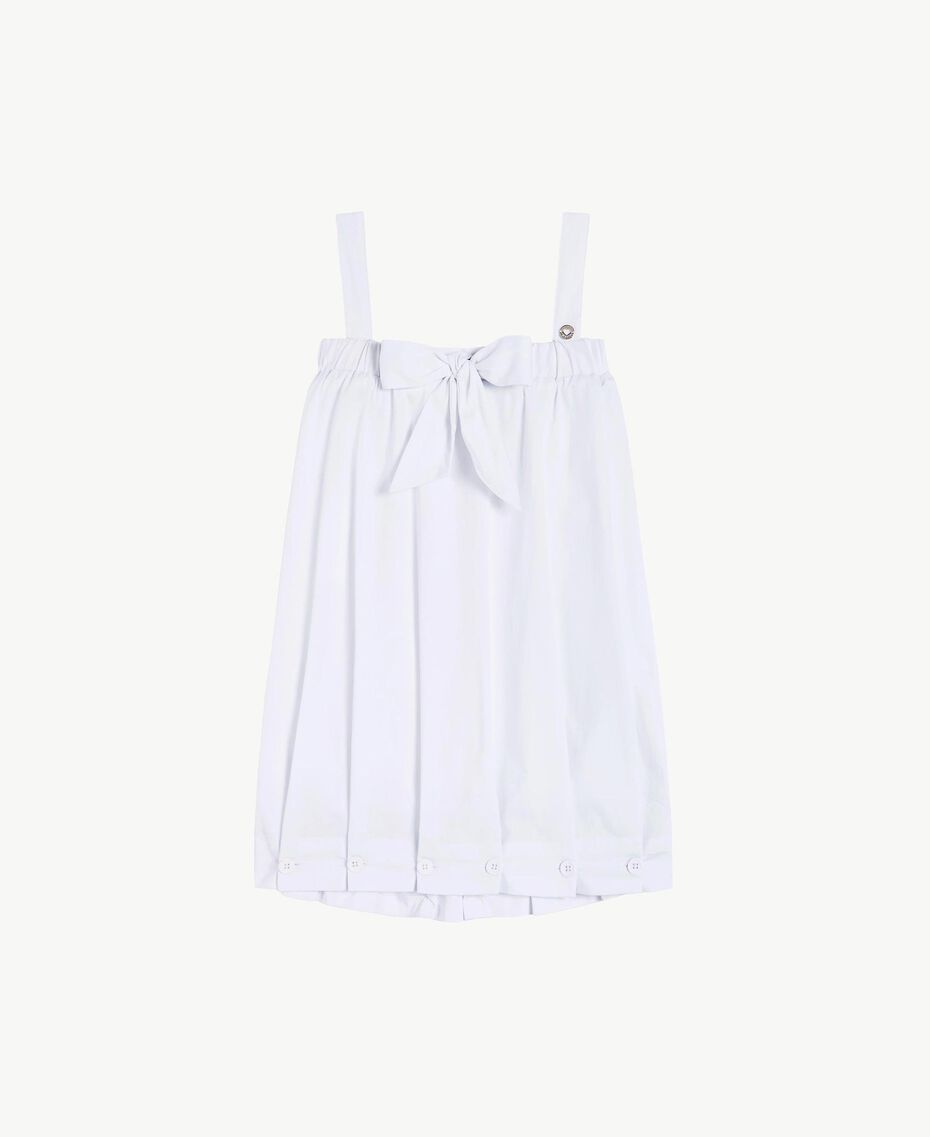 "Poplin dress ""Papers"" White Child GS82QN-01"
