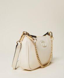 Bolso de hombro con cadena y logotipo Negro Mujer 212TB7050-04