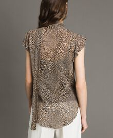 Animal print georgette blouse Small Animal Print Woman 191TP2720-04