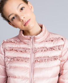 "Short shiny nylon padded jacket with ruches ""Dance"" Pink Woman PA82GS-04"