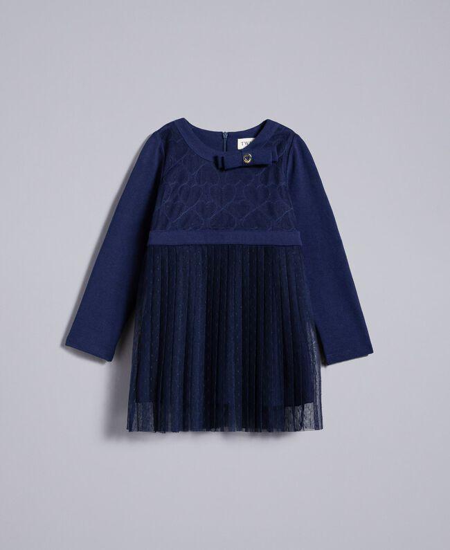 Robe en tulle plumetis Bleu Blackout Enfant FA82QN-01