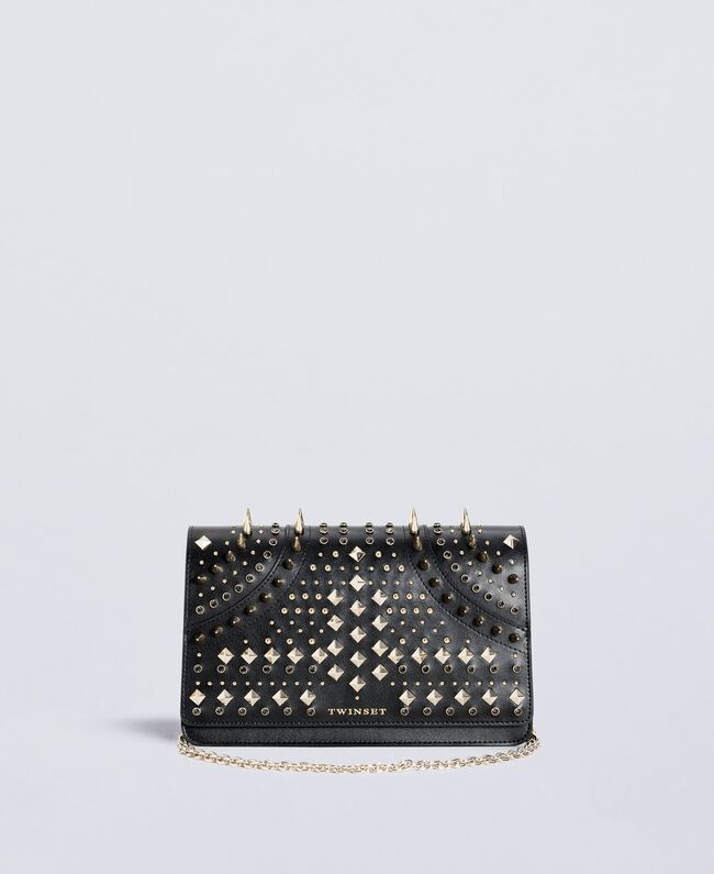 Studded clutch bag Black Woman OS8TLB-01