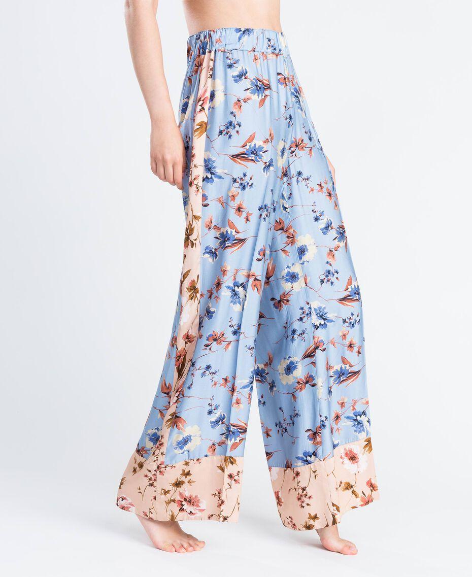 Широкие брюки с набивным цветочным рисунком Набивной Розовый Цветочная Смесь женщина IA8EXX-02