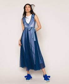 "Textilsneakers mit Knoten ""Hyazinthen""-Blau Frau 201TCT110-0S"