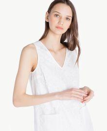 Kleid mit Spitze Weiß Frau SS82J4-04