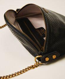 Sac à bandoulière en cuir animalier Imprimé Python Noir Femme 202TD8021-05