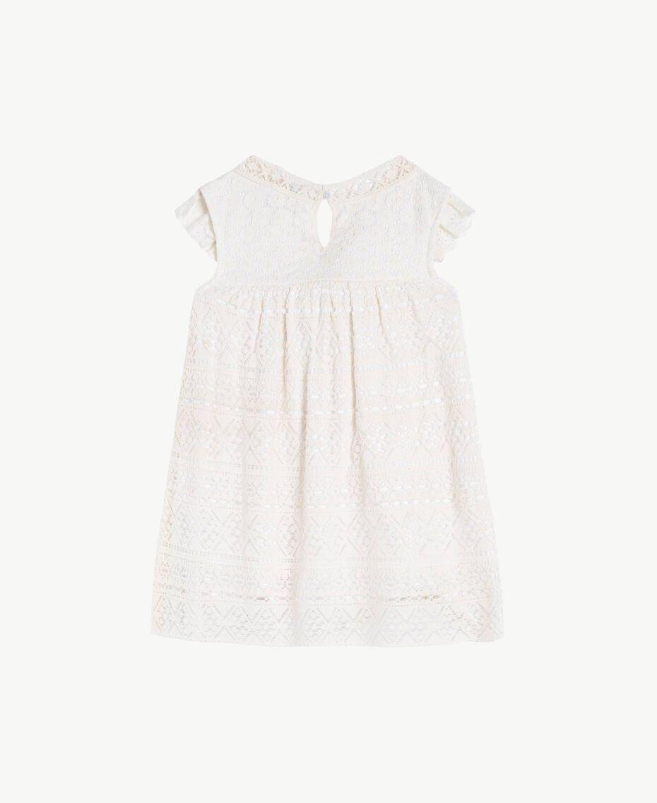 Robe dentelle Bicolore Blanc Papyrus / Chantilly Enfant FS82X2-02