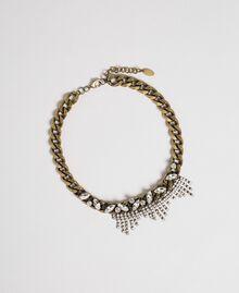 Цепочечное ожерелье с шатонами и стразами Серебряный Crystal женщина 192TA4367-01