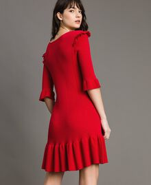 "Knit dress with ruffles ""Ruby"" Red Woman 191TP3271-03"