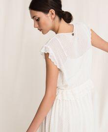 Длинное платье из сангалло Белый Снег женщина 201TP2497-06