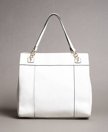 Hobo-Bag aus Lederimitat mit Halstuch Mattweiß Frau 191MO8102-03