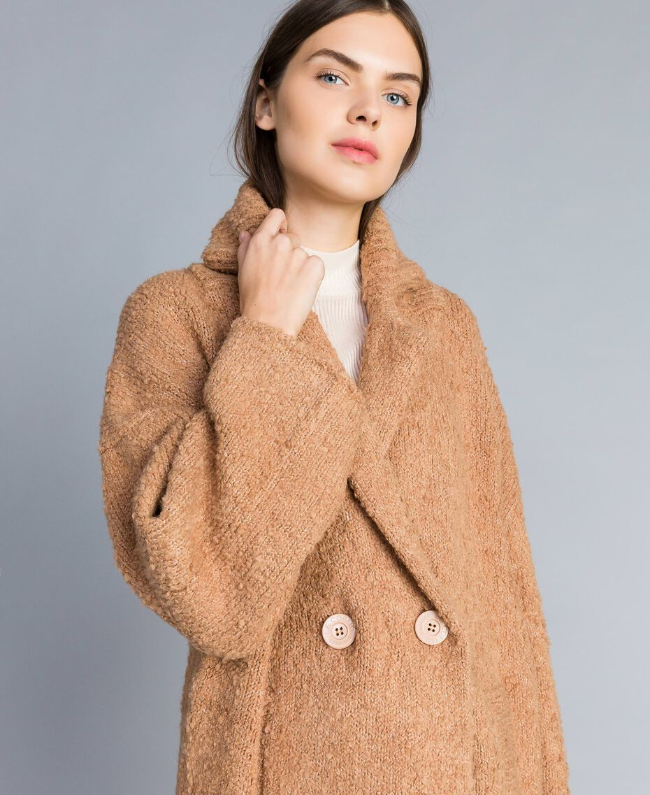 Bouclé coat Butter Woman SA83CA-02