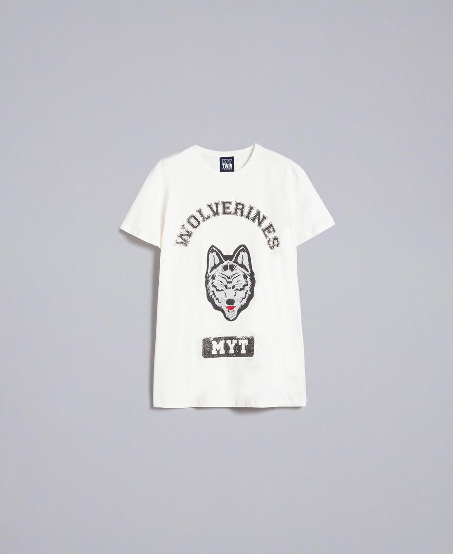 T-shirt en coton avec imprimé Nacre Homme UA82GB-0S