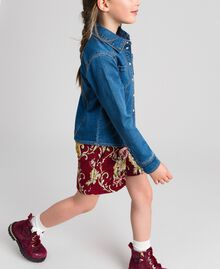 Рубашка с эффектом джинсовой ткани с карманами Средний Деним Pебенок 192GJ2511-03
