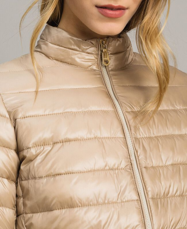 """Quilted puffer jacket """"Milkway"""" Beige Woman 191LL24CC-04"""