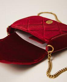 Velvet shoulder bag with patch Venetian Red Woman 202TD8280-05